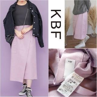 KBF - KBF*ケービーエフ*アーバンリサーチ【美品】ラップデザインスエードスカート