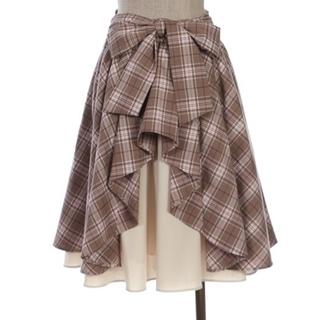 axes femme - 店舗限定新品未使用タグ付きaxesfemmeバックリボン チェックスカート