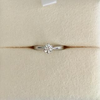 タサキ(TASAKI)の田崎真珠 ダイヤモンド リング Pt950 0.27ct H VS-2 3EX(リング(指輪))