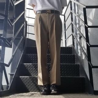 ジョンローレンスサリバン(JOHN LAWRENCE SULLIVAN)のヴィンテージ スラックス トラウザー ワイドパンツ ベージュ(スラックス)