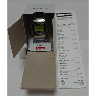 supreme timex digital watch シルバー 19fw新品未