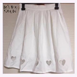 WEGO - タグ付き! WEGO シースルーハート ホワイト スカート