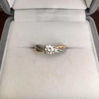 ジュエリーマキ(ジュエリーマキ)のダイヤモンドリング Pt850 K18YG 0.40ct G SI-1 GOOD(リング(指輪))