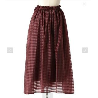 Drawer - 【新品】Drawer ギンガムギャザースカート