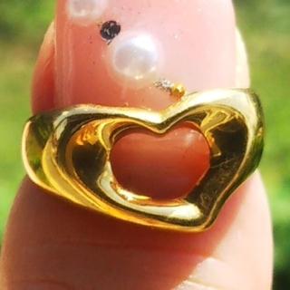 ティファニー(Tiffany & Co.)のティファニー オープンハート リング 750 ゴールド K18 金 指輪(リング(指輪))