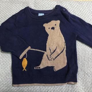 ベビーギャップ(babyGAP)の秋冬服 くまさんニット babygap(ニット/セーター)