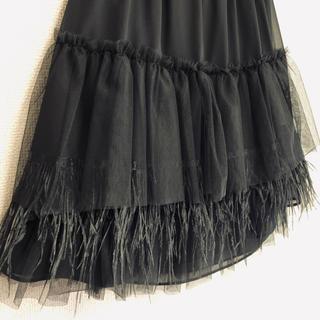 チェスティ(Chesty)の未使用  chesty フェザーチュール スカート ワンピースのインナーにも❤︎(ひざ丈スカート)