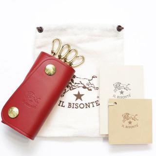 IL BISONTE - 新品 イルビゾンテ キーケース スマートキー レザー ケース ルビー レッド 赤