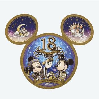 Disney - ディズニーシー18周年 ステッカー 缶バッジ セット