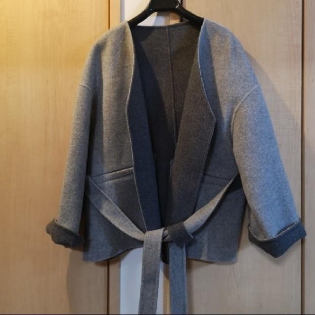 ENFOLD(エンフォルド)のnagonstans ノーカラーショートコート レディースのジャケット/アウター(ノーカラージャケット)の商品写真
