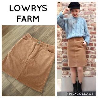 ローリーズファーム(LOWRYS FARM)のLOWRYS FARM コーデュロイ スカート(ひざ丈スカート)
