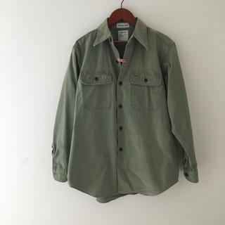 マディソンブルー  ハンプトン ワークシャツ カーキ バックサテン 01