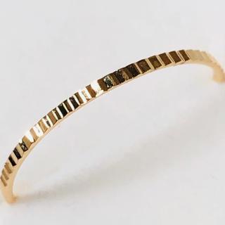 K18 ギザギザデザインの指輪