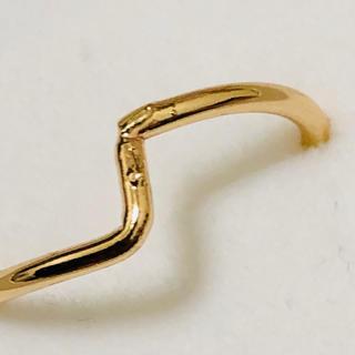 K18 クランクデザインの指輪(リング(指輪))