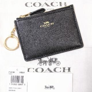 COACH - COACH コーチ キーリング付 コイン パスケース ブラック F12186