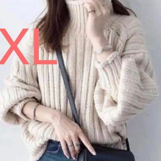 H&M - XLサイズ h&m チャンキーニット リブニットタートルネックセーター