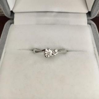ヨンドシー(4℃)の4℃ ダイヤモンド リング Pt950 0.159ct E VS-1 EX(リング(指輪))