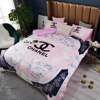 シャネル(CHANEL)のベッドセット 4点セット シーツ 枕カバー 寝具 布団 大人気 秋冬 (シーツ/カバー)