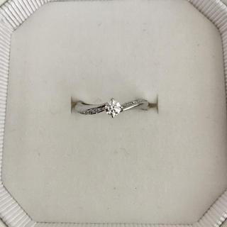 ヨンドシー(4℃)の4℃ ダイヤモンド リング Pt950 0.154ct F VS-1 EX(リング(指輪))