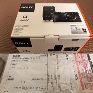 SONY - SONY α6000  ダブルズームレンズキット シルバー ほぼ未使用 美品