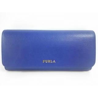 フルラ(Furla)の【新品同様】FURLA 長財布 ロイヤルブルーxゴールド金具(財布)