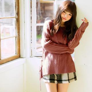 グレイル(GRL)の美品♡グレイル サイドレースアップニット セーター ブラック(ニット/セーター)