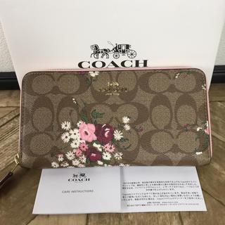 COACH - ☆新品未使用☆コーチCOACH☆長財布 人気花柄 フラワーモチーフ☆カーキマルチ