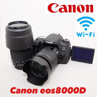 Canon - 上位機種 Canon eos 8000D ダブルレンズキット 美品 付属品多数
