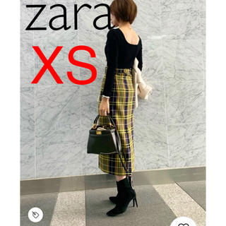 ZARA - 新品 XS ザラ チェック柄 ペンシルスカート