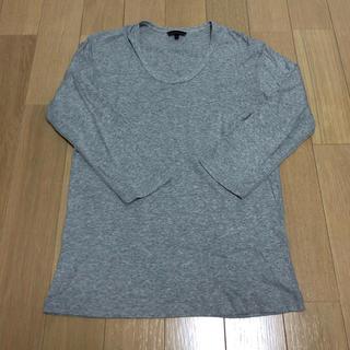 ユニクロ(UNIQLO)のユニクロ 七分袖 XL グレー(Tシャツ/カットソー(七分/長袖))