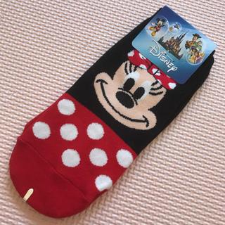 Disney - キャラクター ソックス ミニーマウス 靴下