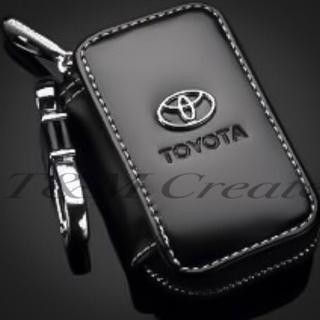 トヨタ スマートキーケース PUレザー 黒色