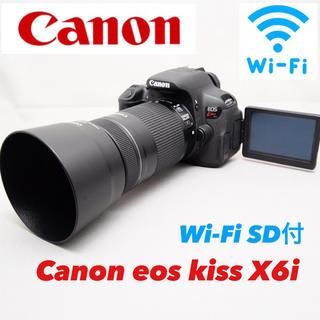 Canon - 運動会も望遠でバッチリ Canon eos kiss X6i Wi-Fi SD