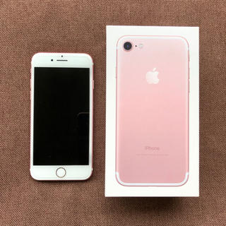 iPhone - 【美品】iPhone7 32GB SIMフリー ローズゴールド
