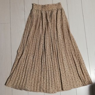 しまむら - しまむらドット柄プリーツスカート