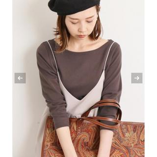 IENA - IENA  AURALEE 別注ボートネックTシャツ
