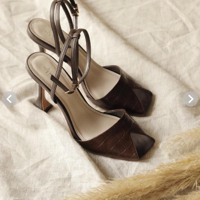 SeaRoomlynn(シールームリン)の新品未使用  searoomlynn クロコストラップミュール Mサイズ レディースの靴/シューズ(ミュール)の商品写真