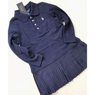 ラルフローレン(Ralph Lauren)のラルフローレン ワンピース プリーツ 半袖 100センチ(ワンピース)