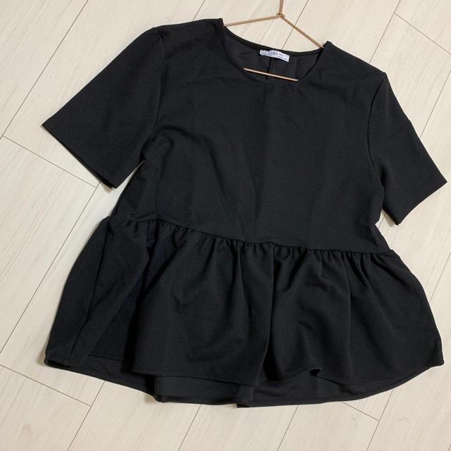 ZARA(ザラ)のフリルTシャツ レディースのトップス(Tシャツ(半袖/袖なし))の商品写真