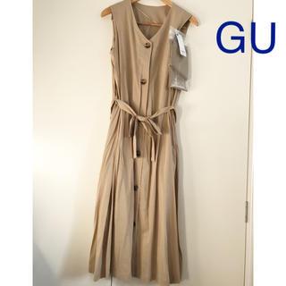 GU - 新品 GU ジーユー フロントボタンワンピース ワンピース