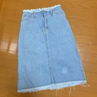 ローリーズファーム(LOWRYS FARM)のLOWRYS FARM デニムスカート(ひざ丈スカート)
