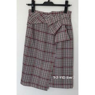 JUSGLITTY - 美品☆ジャスグリッティー デザインチェックタイトスカート