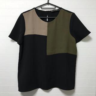 ZARA - ZARA BASIC ザラベーシック キリカエ 切替 パッチワーク Tシャツ