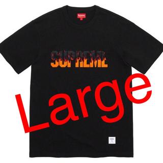 Supreme - Supreme Flame S/S Top 黒L