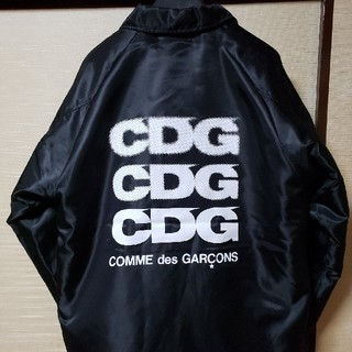 COMME des GARCONS - CDG 黒ボア コーチジャケット