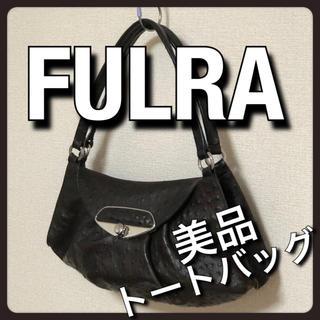 フルラ(Furla)の美品 FURLA フルラ ショルダー トート ダークブラウン オーストリッチ (ショルダーバッグ)