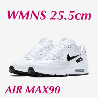 ナイキ(NIKE)のNIKE WMNS AIR MAX90 ホワイト×ブラック×シルバー(スニーカー)