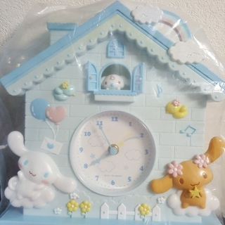 シナモロール - シナモン壁掛け時計とマスコット