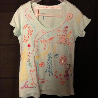 ツモリチサト(TSUMORI CHISATO)の水曜日限定値下げ中 ツモリチサト 刺繍Tシャツ(Tシャツ(半袖/袖なし))