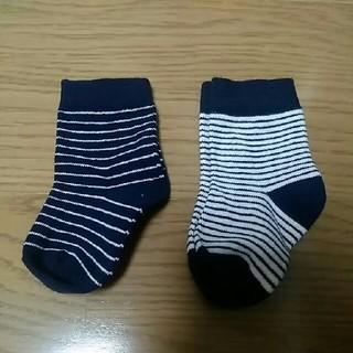 エイチアンドエム(H&M)の新品 新生児用ソックスセット ボーダー ベビー 靴下 (靴下/タイツ)